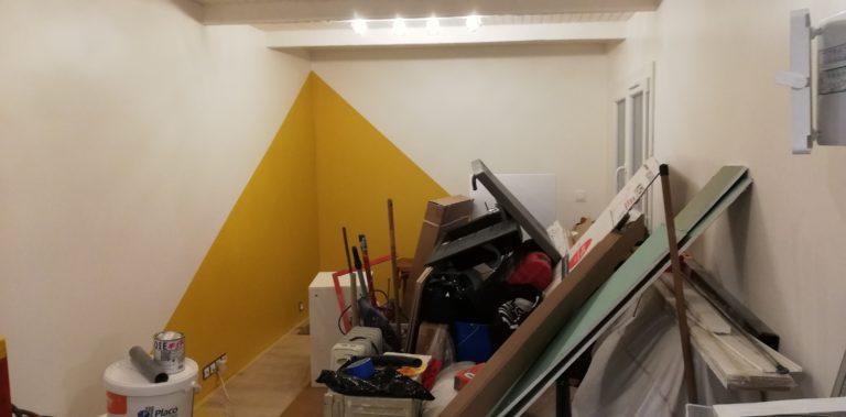 Les travaux du studio – Le cabanon  à la Seyne